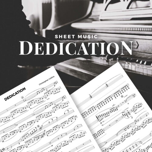 Dedication - Contemporary Piano Sheet Music